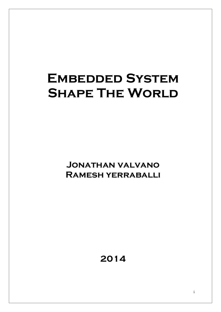 Embedded System Shape The World