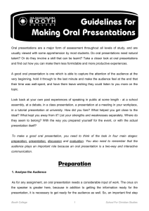 Making Oral Presentations Guidelines.pub