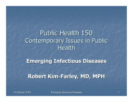 Public Health 150 - UCLA School of Public Health