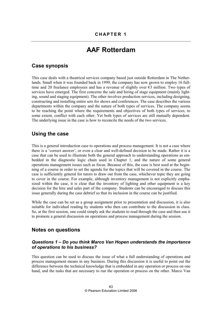 case study aaf rotterdam