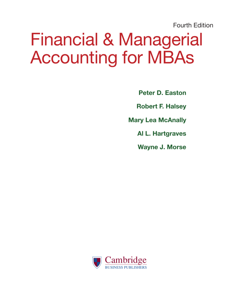 financial managerial accounting for mbas rh studylib net Financial Accounting vs Managerial Accounting Accounting Ledger