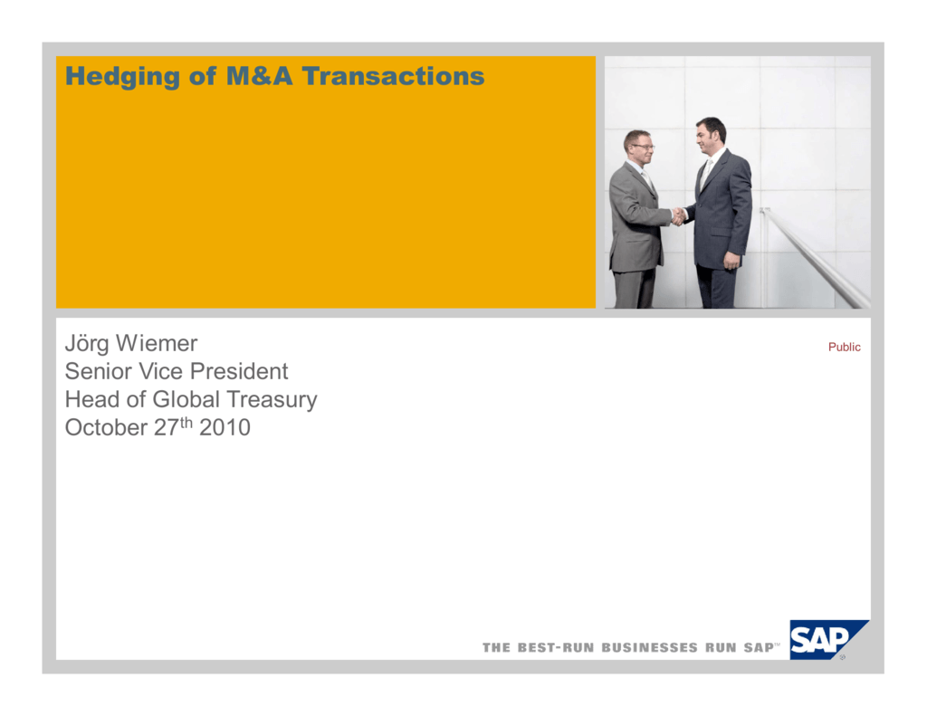 Hedging of M&A Transactions