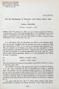 On the Mechanism of Nitration with Dilute Nitric Acid