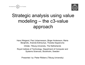 Strategic analysis using value modeling – the c3-value