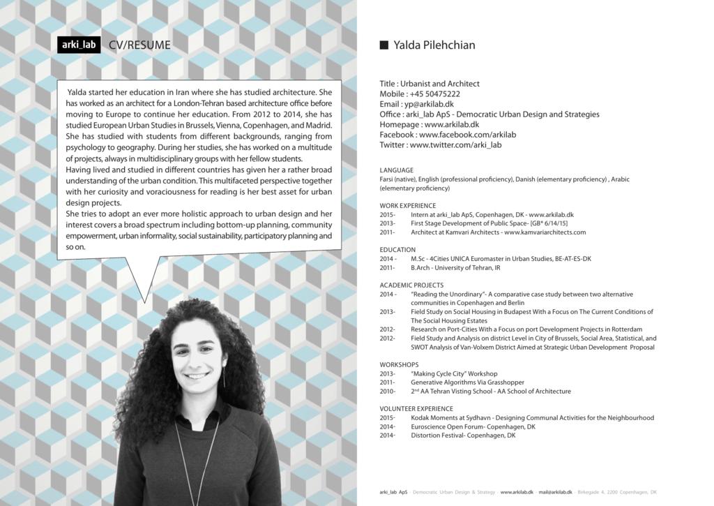 a pdf of Yalda's extended CV