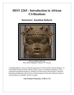 HIST 2265 - Introduction to African Civilizations