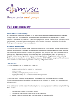 Full cost recovery - Merton Voluntary Service Council