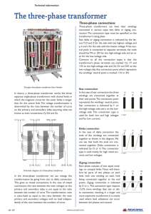 The three-phase transformer