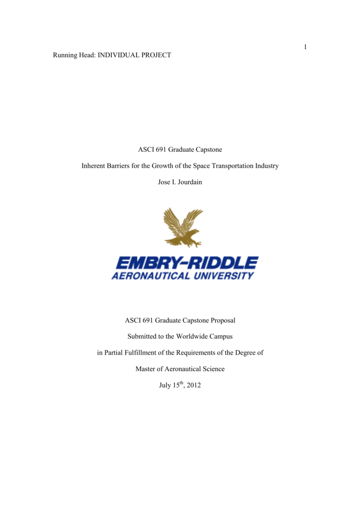 embry riddle graduate capstone project examples