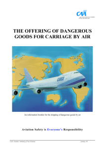 Dangerous Goods Booklet - Civil Aviation Authority of New Zealand