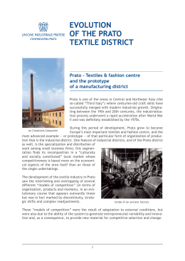 Prato textile district - Unione Industriale Pratese