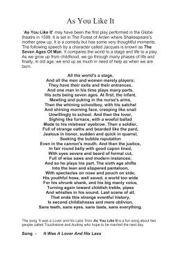seven ages of man poem