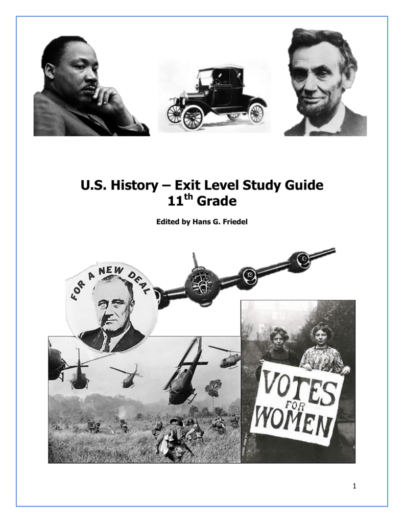 Us history exit level study guide 11th grade publicscrutiny Images