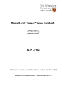 the OT Program Handbook - School of Rehabilitation Science