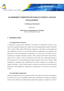 leadership competencies for successful change management