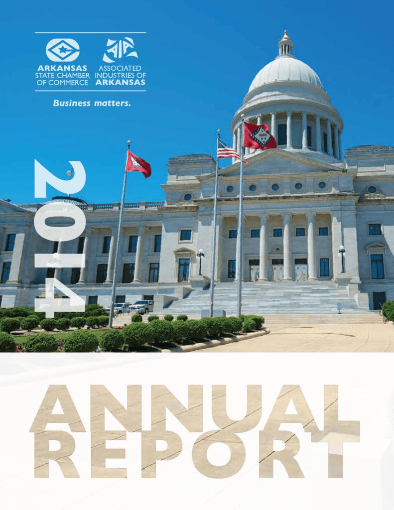 Arkansas State Chamberaia Annual Report 2014 1