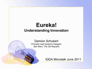 Eureka! Understanding Innovation