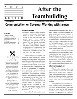 Communication or Cover-up: Working with Jargon