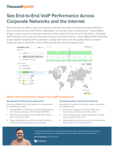 See End-to-End VoIP Performance Across Corporate Networks and