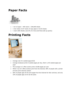 Paper Facts Printing Facts