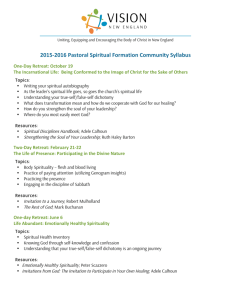 2015-‐2016 Pastoral Spiritual Formation Community Syllabus