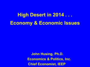 April, 2014 High Desert City Leaders Presentation