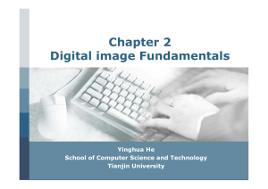Chapter 2 Digital image Fundamentals