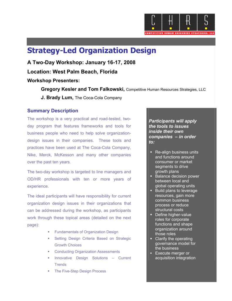 Organization Design Workshop