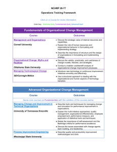 Fundamentals of Organizational Change Management Advanced