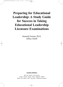 Preparing for Educational Leadership: A Study Guide