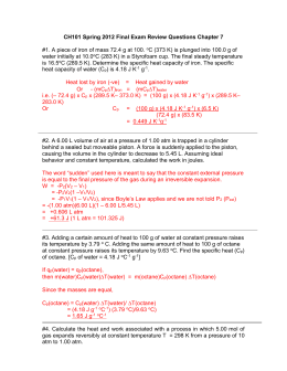 CH101 Spring 2012 Final Exam review Questions Chapter 7