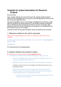 Template for project description for Research Projects