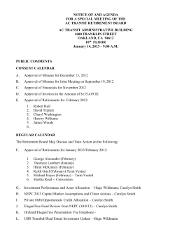 notice of and agenda