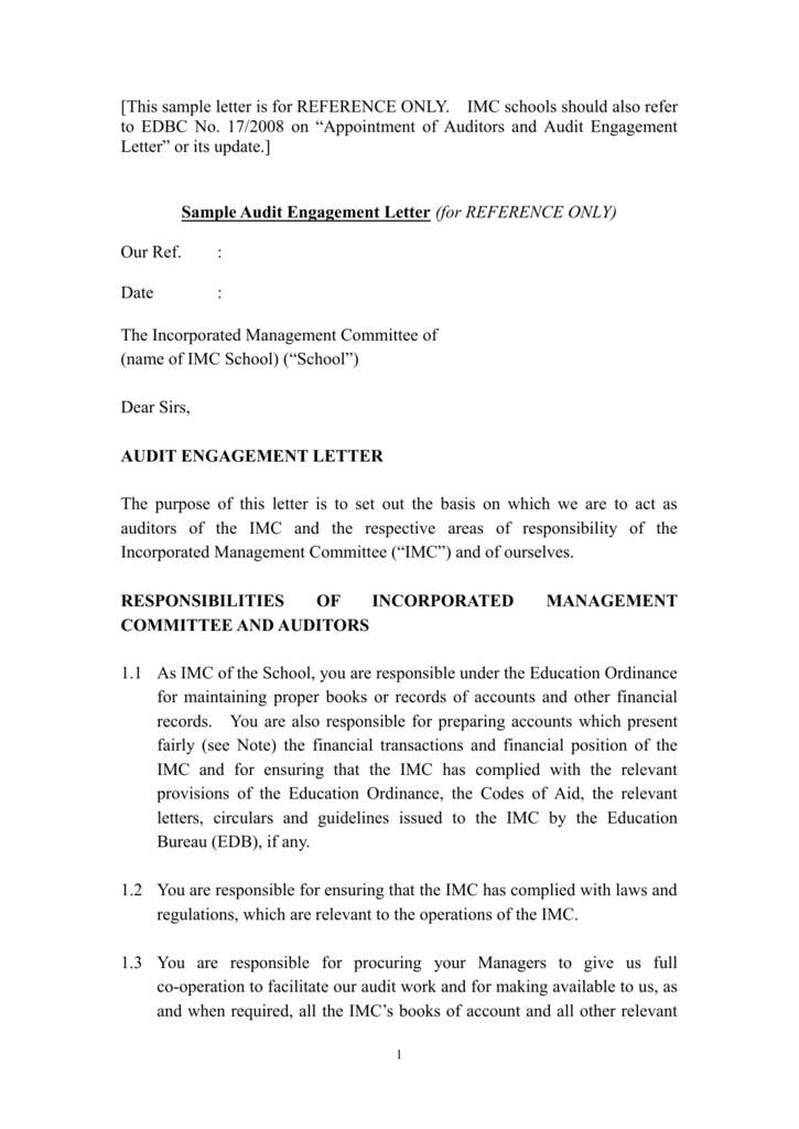 audit engagement letter - Bindrdn.waterefficiency.co