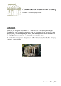Thank you - The Conservatory Construction Company