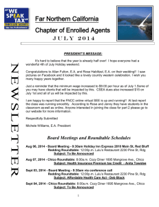 July Newsletter - California Society of Enrolled Agents • Far Northern