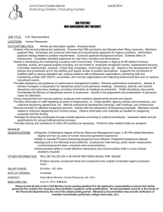 Job LIsting Document