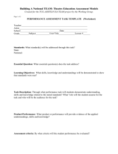 performance task template - Theatre Communications Group