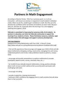 "Partners in Math Engagement According to Director Pontes, ""All of"