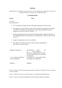 Land Registry Form 86