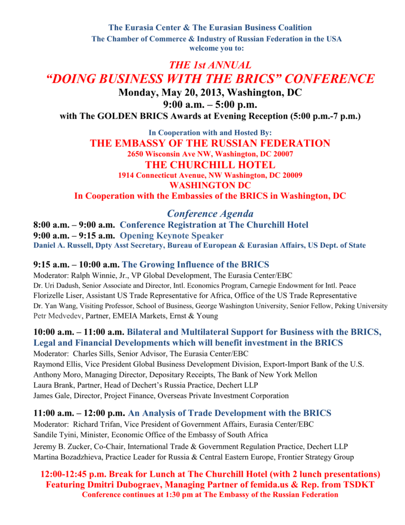 final agenda for doing business with the brics