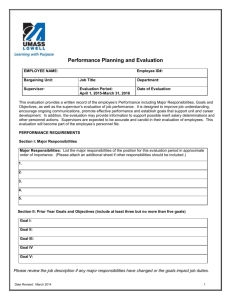 Performance Planning & Evaluation