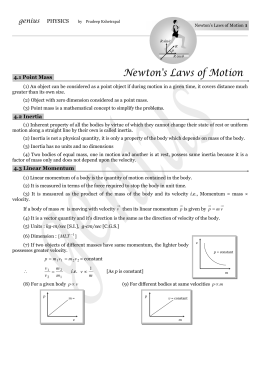Laws-of-motion - PRADEEP KSHETRAPAL PHYSICS