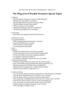 Steroids persuasive speech