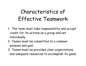 Characteristics of Effective Teamwork