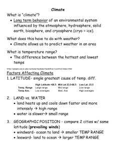 Cause of Climate Notes - wiki