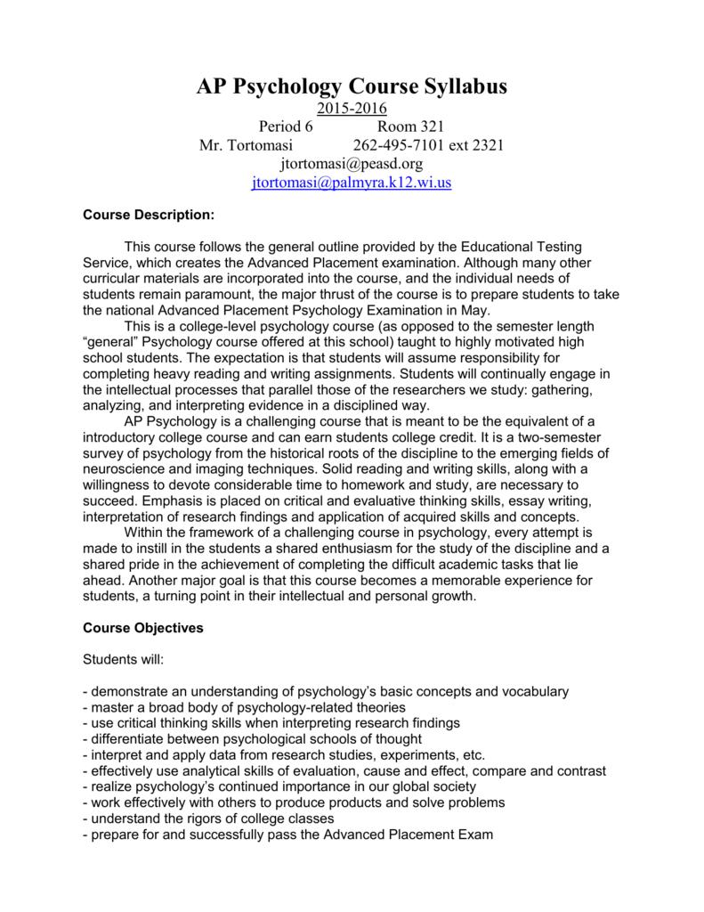 Sexual orientation ap psychology syllabus