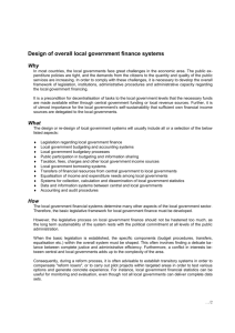 Local government finance systems
