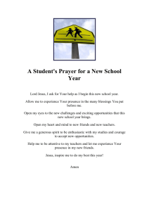 Back to School: Prayers for the Start of the School Year
