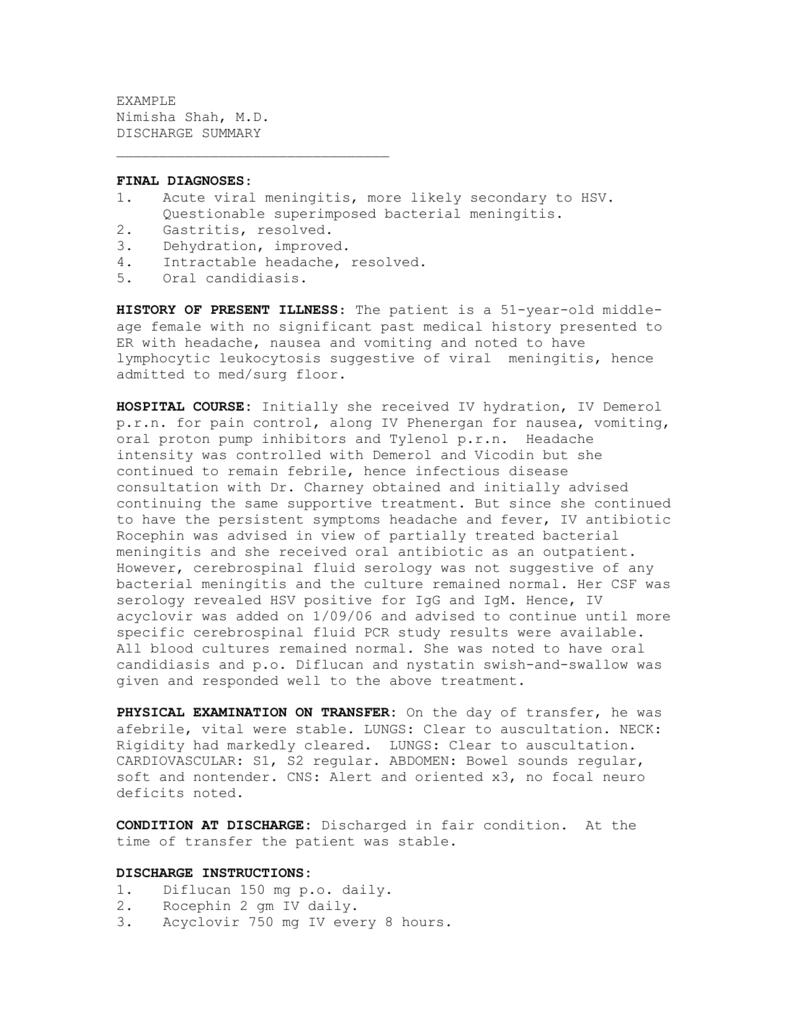 Discharge Summary 4